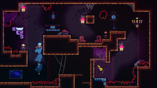 "Celeste is a platform game in which players control a girl named Madeline as she makes her way up a mountain while avoiding various deadly obstacles. Along with jumping and climbing up walls for a limited amount of time, Madeline has the ability to perform a mid-air dash in the eight cardinal and intercardinal directions. This move can only be performed once and must be replenished by either landing on the ground or hitting certain objects such as replenishing crystals (although the player is granted a second dash later on in the game). Throughout each level, the player will encounter additional mechanics, such as springs that launch the player or feathers that allow brief flight, and deadly objects such as spikes which kill Madeline (returning her to the start of the section). Players can also access an Assist Mode, where they can change some attributes about the game's physics. Some of these include: infinite air-dashes, invincibility, or slowing the game's speed. Hidden throughout each level are optional strawberries, obtained through challenging platforming or puzzle solving sections, which slightly affect the game's ending depending on how many are collected. Additionally, there are cassette tapes which unlock harder ""B-Side"" variations of certain levels, and crystal hearts used to access post-game content. Beating all the B-Sides then unlocks the ""C-Side"" versions, which consists of very hard but short variations upon the levels. Upon clearing all ""C-Sides"", the player can access the Variants menu. The Variants menu allows players to change the game's physics in a way similar to the game's Assist Mode. Some of these ""variant"" settings include: speeding the game up, 360 degree dashing, and low friction to all flat surfaces. These settings serve to make the game either more challenging or more fun. The original Celeste Classic Pico-8 prototype can also be found as a hidden minigame.