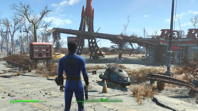 Fallout 4 is an action role-playing game set in an open world environment, gameplay is similar to that of Fallout 3 and Fallout: New Vegas, the two previous primary iterations in the series. Returning features include a camera that can switch between a first-person and third-person perspective. Fallout 4 introduces features including a layered armor system, base-building, a dialogue system featuring 111,000 lines of dialogue, a crafting system which implements every lootable object in the game. Enemies such as Mole Rats, Raiders, Super Mutants, Deathclaws, and Feral Ghouls return in Fallout 4, along with the companion Dogmeat.