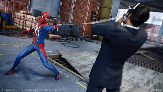Spider-Man is an open world action-adventure game set in the borough of Manhattan in a fictionalised version of modern-day New York City.[1][2] It is presented from a third-person perspective showing the playable character on screen and allowing the camera to be freely rotated around it.[2] The primary playable character is the superhero Spider-Man.[3] Spider-Man can navigate the world by jumping, using his Web Shooters to fire webs to swing between buildings, running along walls, and can automatically run and jump over obstacles. Webs can be precisely aimed to pull himself towards specific points.[2][4] Webs require physical objects to attach to for swinging, and the momentum and speed of the swing can be controlled by releasing the web at specific points to either go faster or higher.[5] The game features an optional fast travel system using the New York City Subway system. (from Wikipedia)