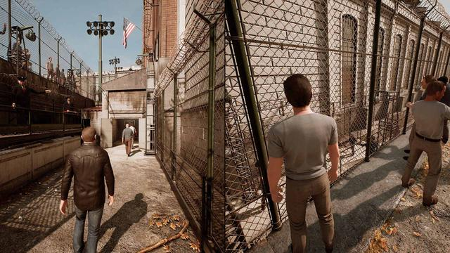 A Way Out is an action-adventure game played from a third-person perspective. It is specifically designed for split-screen cooperative multiplayer, which means that it must be played with another player through either local or online play. In the game, players control Leo and Vincent, two convicted prisoners who must break out of prison and stay on the run from authorities. As the story of both protagonists is told simultaneously, their progress may not be synchronized, which may result in one player being able to control their character, while another is watching a cutscene. Players need to cooperate with each other in order to progress, and each situation can be approached differently, with both characters taking different roles. For instance, during an early segment of the game, the player controlling Vincent needs to distract a nurse and guard, so the player controlling Leo can find a chisel needed to aid their escape. These roles are not fixed, so Leo and Vincent can swap their roles in another playthrough. Players can interact with many non-playable characters, and there are dialogue options for players to choose. (from Wikipedia)