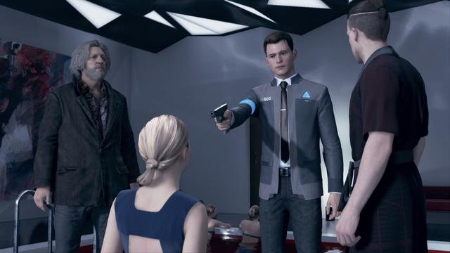 The plot revolves around three androids: Kara (Valorie Curry), who escapes the owner she was serving to explore her newfound sentience and protect a young girl; Connor (Bryan Dechart), whose job is to hunt down sentient androids; and Markus (Jesse Williams), who devotes himself to releasing other androids from servitude. They may survive or perish depending on dialogue choices that shape the story.