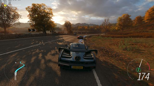 Forza Horizon 4 is a racing video game set in an open world environment based in a fictional representation of the United Kingdom, in a region that includes condensed representations of Edinburgh, the Lake District (including Derwentwater), and the Cotswolds (including Broadway), among others, and features over 420 licensed cars. The game features a route creator which enables players to create their own races. The game takes place in a synchronised shared world, compared to the AI-driven Drivatars from its predecessors, with each server supporting up to 72 players. The game is also playable in offline mode. (from Wikipedia)