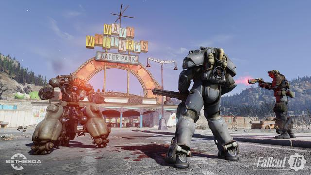 "The game features an open world four times the size of that of Fallout 4. The game world is called ""Appalachia"" and is a representation of West Virginia. It features recreations of real locations in the region, including the West Virginia State Capitol, The Greenbrier, Woodburn Circle, New River Gorge Bridge, and Camden Park. The game features numerous new mutated monsters, several of which—such as the Mothman and the Flatwoods monster—were inspired by West Virginian folklore.