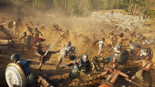 Assassin's Creed Odyssey places more emphasis on role-playing elements than previous games in the series. The game contains dialogue options, branching quests, and multiple endings. The player is able to choose the gender of the main character, adopting the role of Alexios or Kassandra. The game features a notoriety system in which mercenaries chase after the player if they commit crimes like killing or stealing.