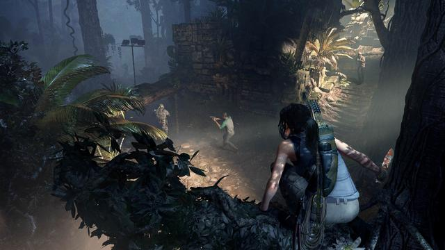 Shadow of the Tomb Raider is an action-adventure game played from a third-person perspective; players take the role of main protagonist Lara Croft as she explores environments across the continent of South America. The game's hub is set to be the largest in the franchise which also reveals the hidden city of Paititi. Players can participate in side quests and missions and learn about Paititi which provides a richer experience. A new barter system allows players to trade resources, salvage parts and weapons in Paititi. There are numerous adjustments made to gameplay, which is otherwise identical to Rise. The controls for swimming have been completely revised, as Lara is now able to hold her breath underwater for a longer period of time due to the introduction of air pockets. She also gains the ability to rappel down a cliff using a rope. Stealth becomes an important part of the game, with Lara being able to disengage from combat when she escapes from enemies' line of sight by covering herself in mud, hiding in bushes or against walls. (from Wikipedia)